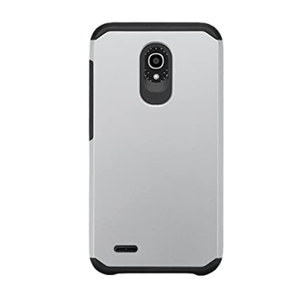 new concept 9ef2f 1dcff Asmyna Phone Case for ALCATEL 7046T (One Touch Conquest) - Retail Packaging  - Black/Silver