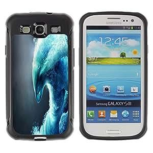 Suave TPU GEL Carcasa Funda Silicona Blando Estuche Caso de protección (para) Samsung Galaxy S3 III I9300 / CECELL Phone case / / Abstract Wave Monster /