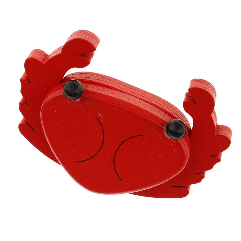 Nrpfell Aimant Coupe Jouet Magnetique Aliments Bois Semblant Jouets educatif Cadeau Enfant (Divers) - Crabe
