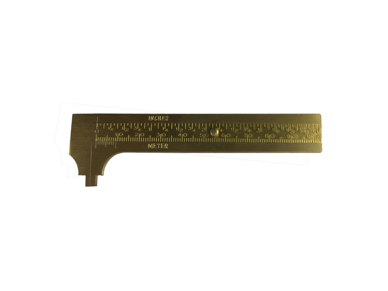 Proops Brass 4' Vernier Caliper Measuring Gauge inches & mm Scale Size (D8073). Free UK Postage