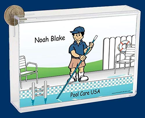 Personalized NTT Cartoon Side Slide Frame Gift: Pool Cleaner Male Gift, Pool Cleaner, Pool Service
