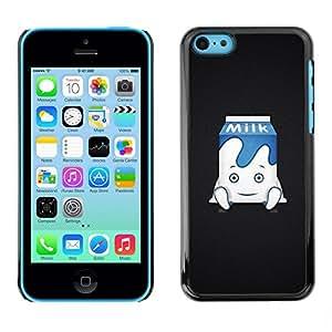 Be Good Phone Accessory // Dura Cáscara cubierta Protectora Caso Carcasa Funda de Protección para Apple Iphone 5C // Funny Cute Milk