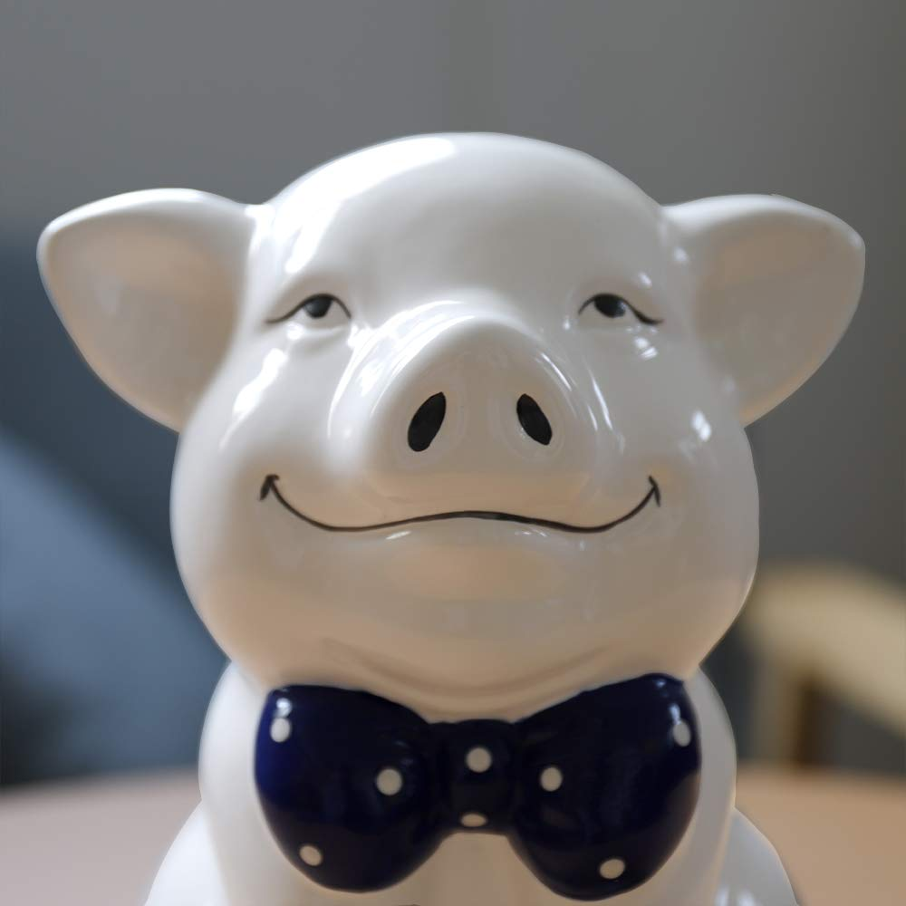 IKnow Ceramic Piggy Bank Home Decor Ornament Gift for Kids (White) by IKnow (Image #6)