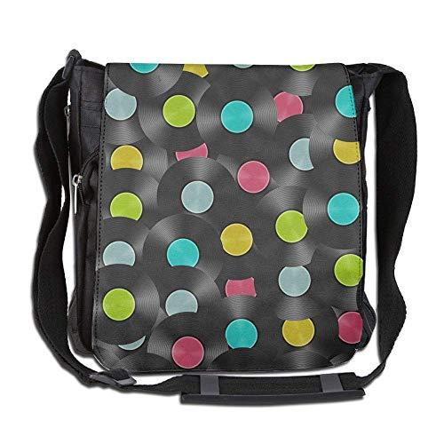 Cross City Body Disco - Messenger Bag,polka Dot Disco Pattern,Unisex Shoulder Backpack Cross-body Sling Bag