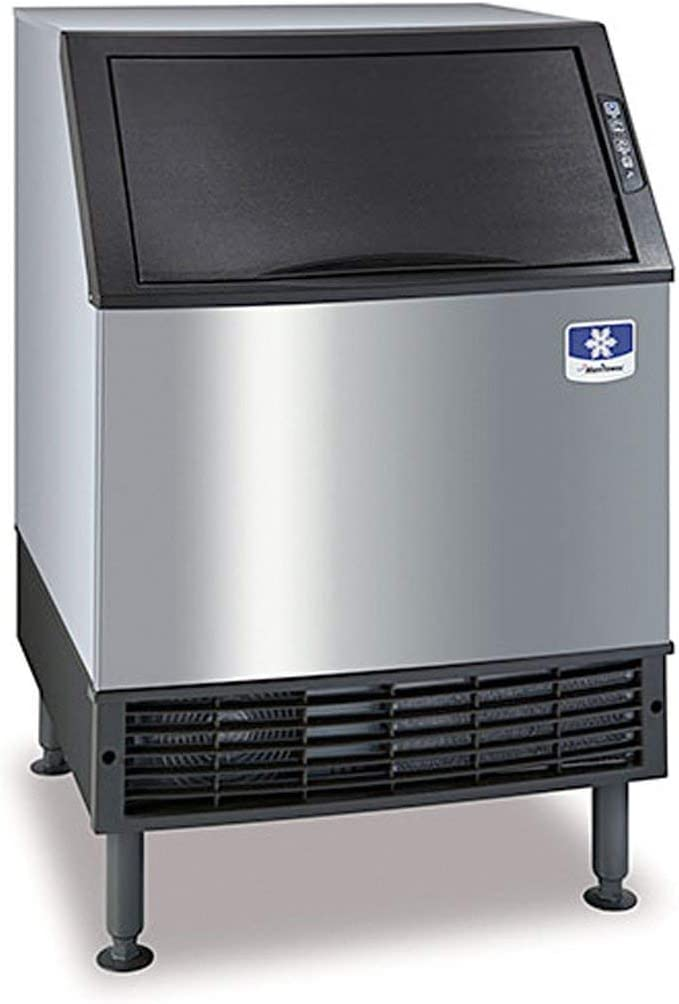 "Manitowoc UYF-0140A NEO 26"" Air Cooled Undercounter Half Dice Cube Ice Machine with 90 lb. Bin - 115V, 137 lb"