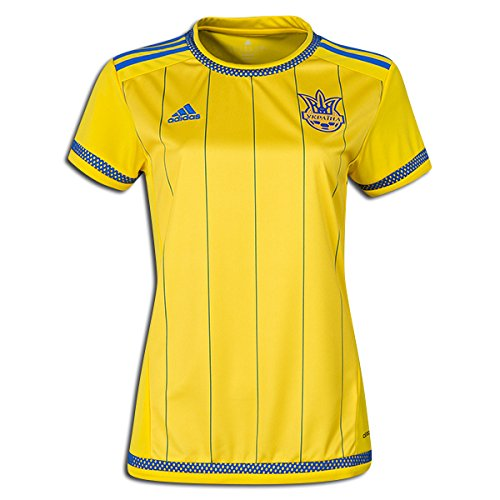 adidas FFU Ukraine Women's Home Soccer Jersey World Cup 2015 (Medium)