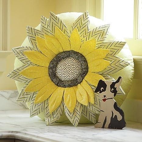 Amazon.com: ANNA Griffin girasol almohada costura patrón ...
