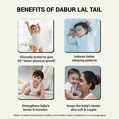 Dabur Lal Tail – Ayurvedic Baby Oil – Clinically tested 2x faster physical growth – 500 ml