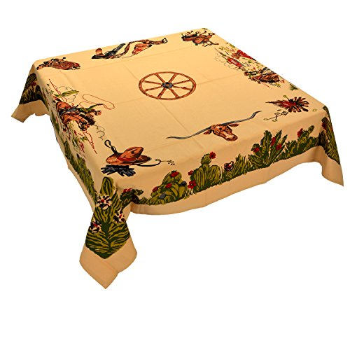 Moda Home Western Cotton Tablecloth - Home on the -