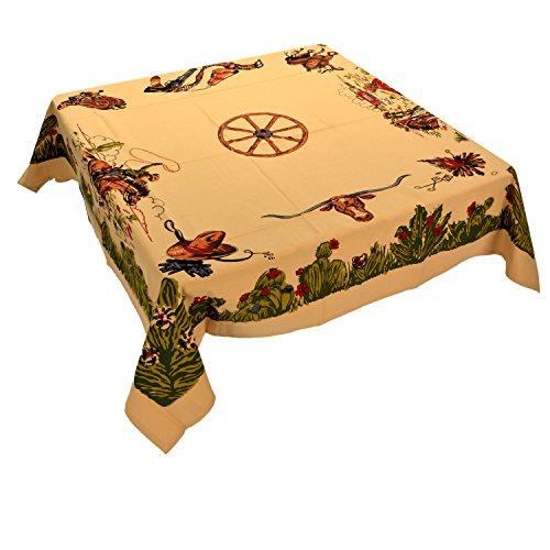 Moda Home Western Cotton Tablecloth - Home on the Range (Rick Vintage Rack)