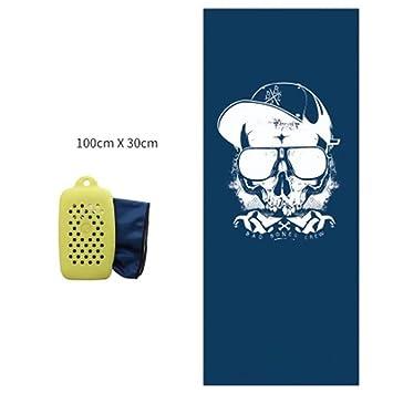 GVFDBFDSB Deportes de Fibra de bambú Toalla Fría Potable de Secado Rápido ejecutando toallitas Portátil de