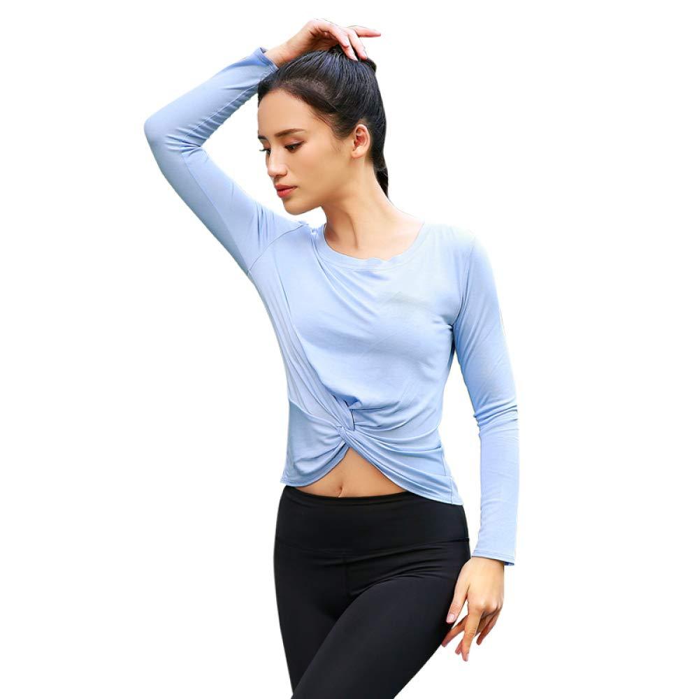 Bleu Ensemble De Vêtements De Yoga pour Femmes,Bodyout Physique D'entraînement Body De Sport LÂche à Manches Longues Et Pantalons Moulants Absorption De La Sueur 73% Polyester Et 27% élasthanne L