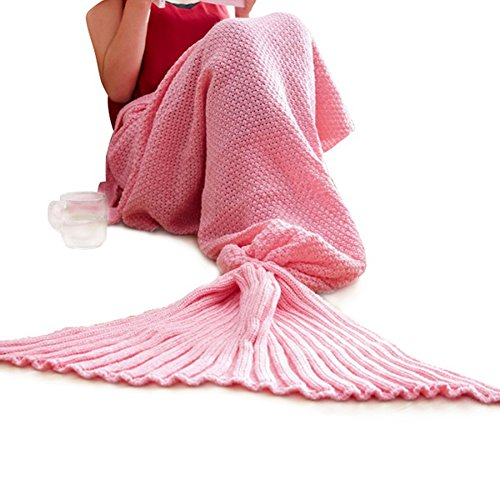 Soft Mermaid Tail Blanket Handmade Wave Sleeping Blankets Cr