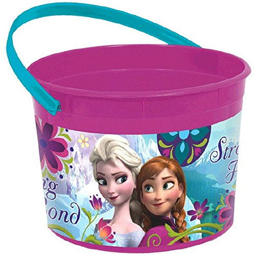 Disney Frozen Birthday Party Favour and Prize Giveaway Container (1 Piece), Violet/Teal, 4 1/2
