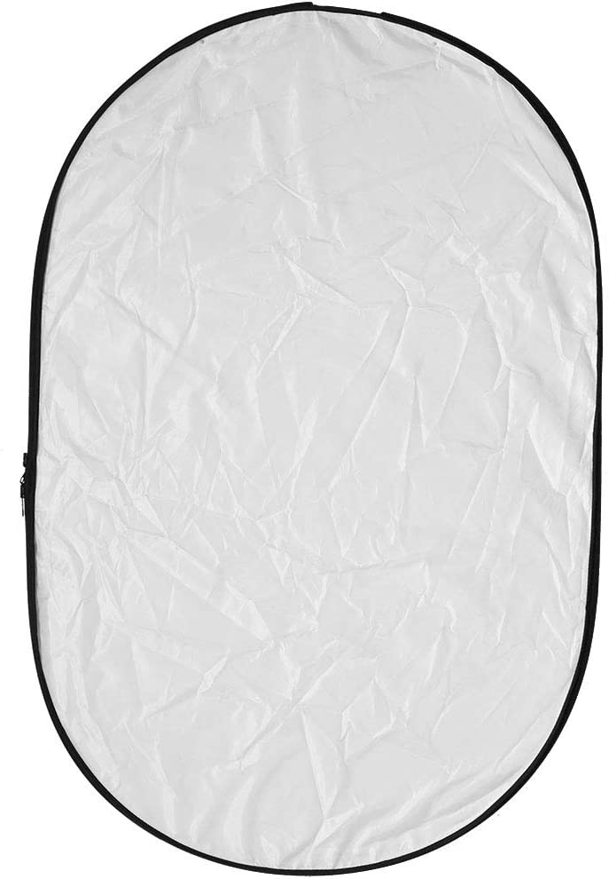 Entatial R/éflecteur de lumi/ère 60x90cm 5 en 1 Nouveau diffuseur de r/éflecteur de Photographie//Photo Pliable Portable pour Studio Or Argent Blanc Noir et translucide
