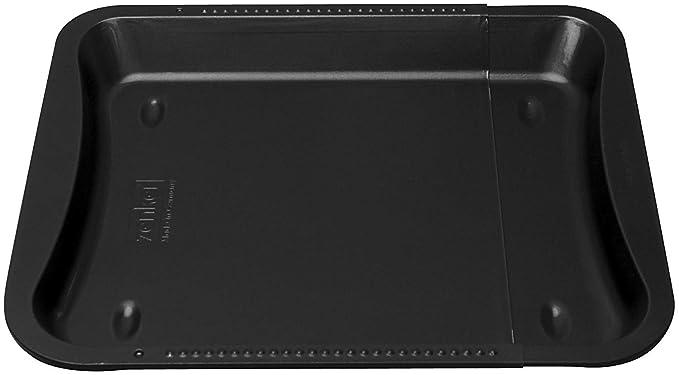 Zenker Black Metallic Rustidera Universal Extensible. Acero con revestimiento antiadherente Teflon. Negro. 35-52x33x3cm. 1ud.: Amazon.es: Hogar