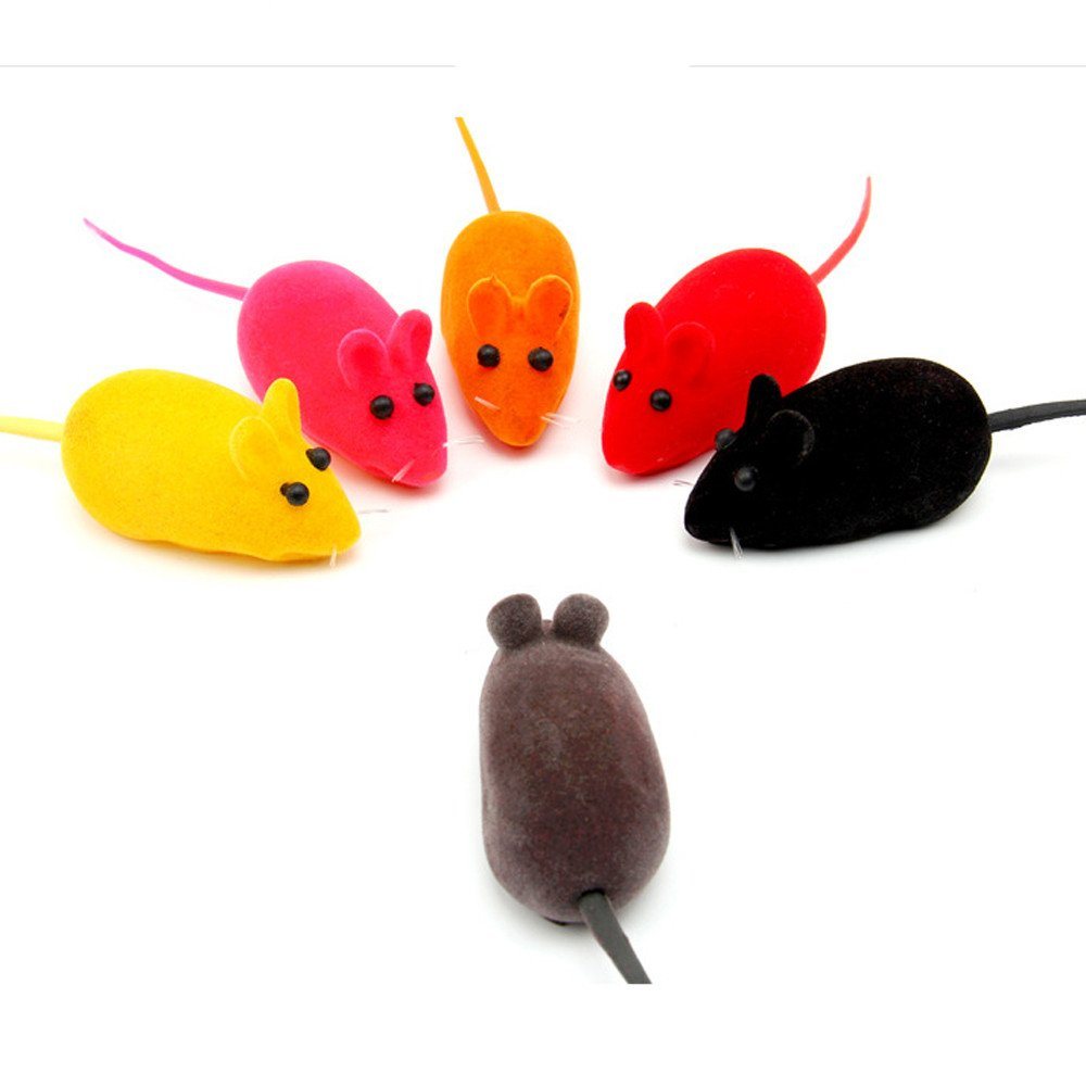 callm 3 pcs Fun Toy Little Mouse Realistic Sound Toys Interactive Toy for Pet Cat (Random)
