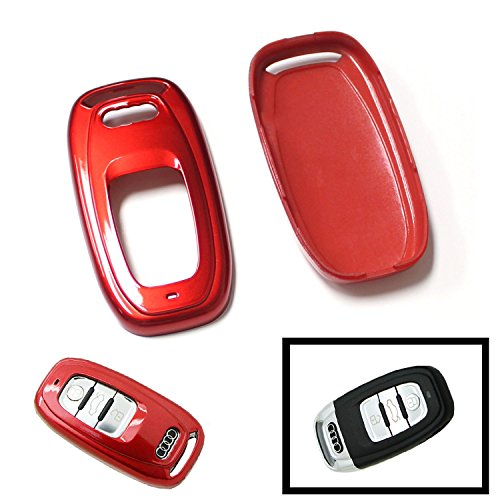 iJDMTOY (1) Exact Fit Gloss Metallic Red Smart Remote Key Fob Shell For Audi A3 A4 A5 A6 A7 A8 Q5 Q7, etc](Audi A3 Interior)