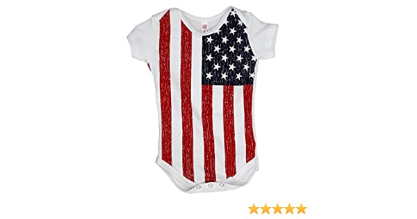 bcef5e5f786 Amazon.com  USA Flag Baby Romper Snapsuit  Clothing