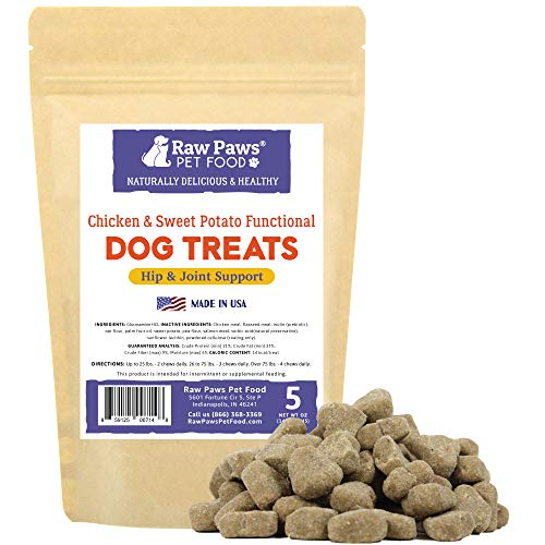 Raw Paws Natural Dog Glucosamine Chews, 5-oz/50-ct - USA Made - Soft, Chewable Dog Arthritis Supplement - Hip and Joint Treats for Dogs Increases Mobility, Reduces Pain, Inflammation & Hip Dysplasia