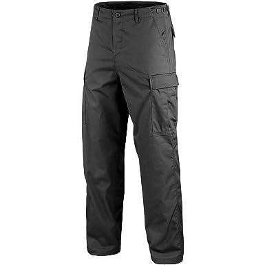 30a21eee296729 Ranger Army Cargo Combat Work Wear Mens Trousers Casual BDU Pants Black