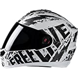 Steelbird Helmet SBA-1 Free Live with Plain Visor and Matt finish (M-580MM, White with Grey)