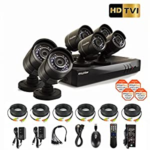 LaView HD DVR 8 Channel 1080P Surveillance System with 2TB HDD and 6 x 1080P Bullet Security Cameras, Free Remote View, LV-KT948FT6A0-T2 from LaView