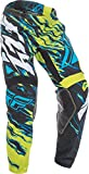 Fly Racing Unisex-Adult Kinetic Relapse Pants (Lime/Blue, Size 32)