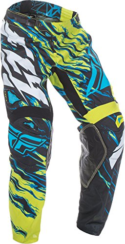 Fly Kinetic Gloves - Fly Racing Unisex-Adult Kinetic Relapse Pants (Lime/Blue, Size 34)