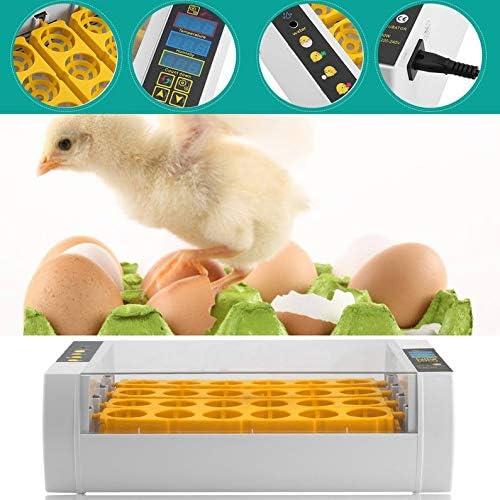 frYukiko 24 Eggs Incubator for Chicken Poultry Quail Turkey Automatic Egg Turning