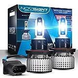 Novsight H13/9008 Hi/Lo Dual Beam LED Headlight Kits (Pack of 2)- Bridgelux-COB LED
