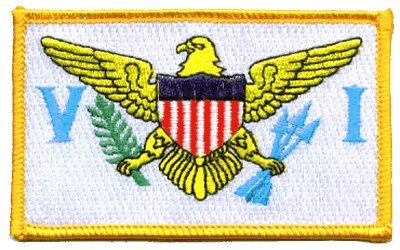 Virgin Islands iron-on embroidered patch ()