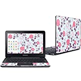 """Mightyskins Skin Compatible with Samsung Chromebook 3 11.6"""" - Vintage Floral   Protective, Durable, and Unique Vinyl Decal Wrap Cover   Easy to Apply, Remove, and Change Styles   Made in The USA"""