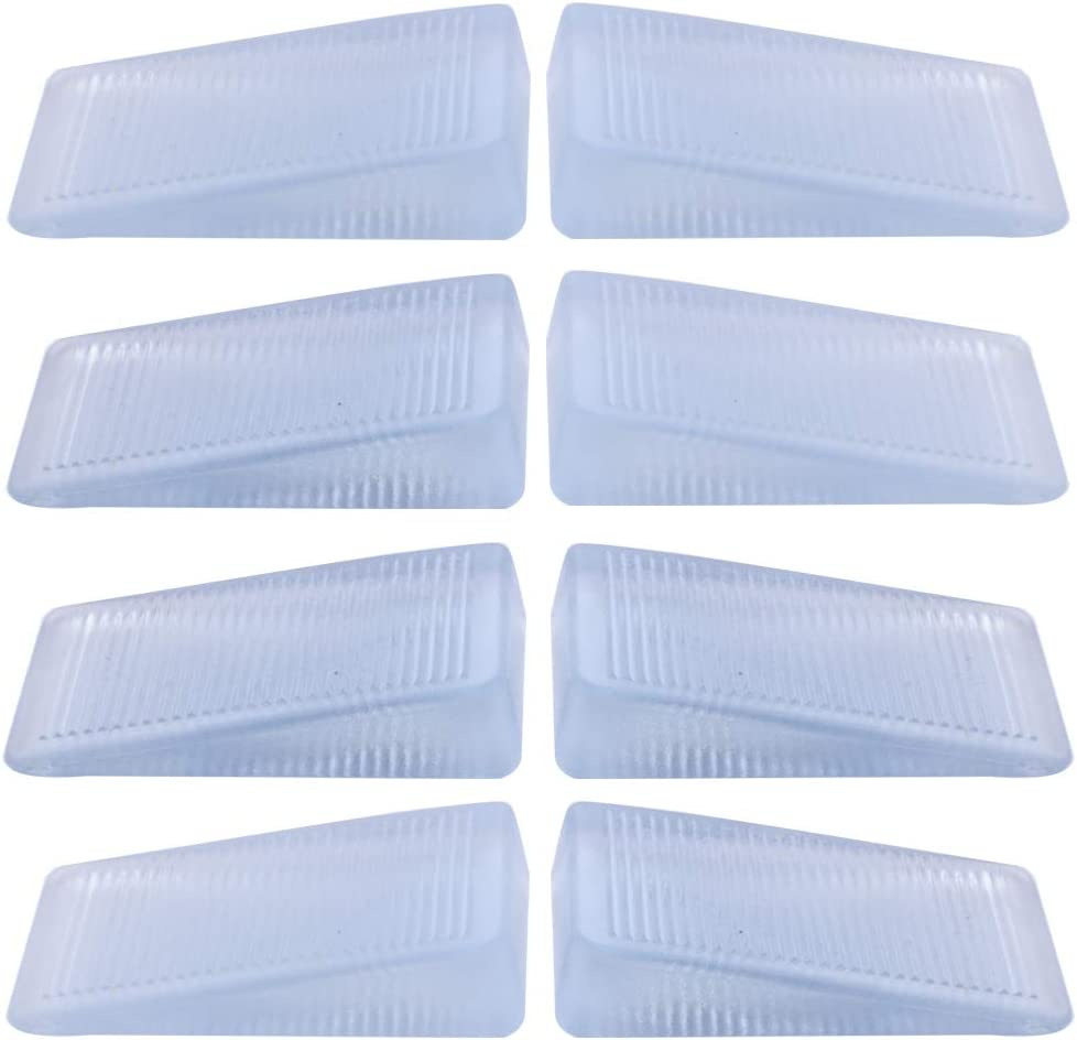 Wadoy Plastic Shims for Toilet Leveling, Multi Purpose White Rubber Wedge Shim