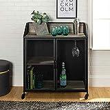 WE Furniture AZU33SOIBCRO Bar Cabinet, 33' L x 17' W x 38' H, Rustic Oak