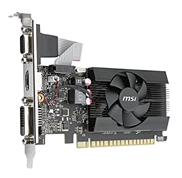 MSI Gaming GeForce GT 710 2GB GDRR3 64-bit HDCP Support DirectX 12 OpenGL 4.5 Heat Sink Low Profile Graphics Card GT 710 2GD3H LP