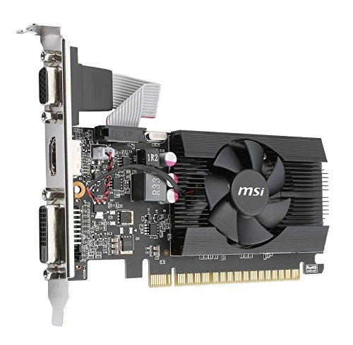 MSI Gaming GeForce GT 710 2GB GDRR3 64-bit HDCP Support DirectX 12 OpenGL 4.5 Single Fan Low Profile Graphics Card (GT 710 2GD3 LP) by MSI (Image #4)