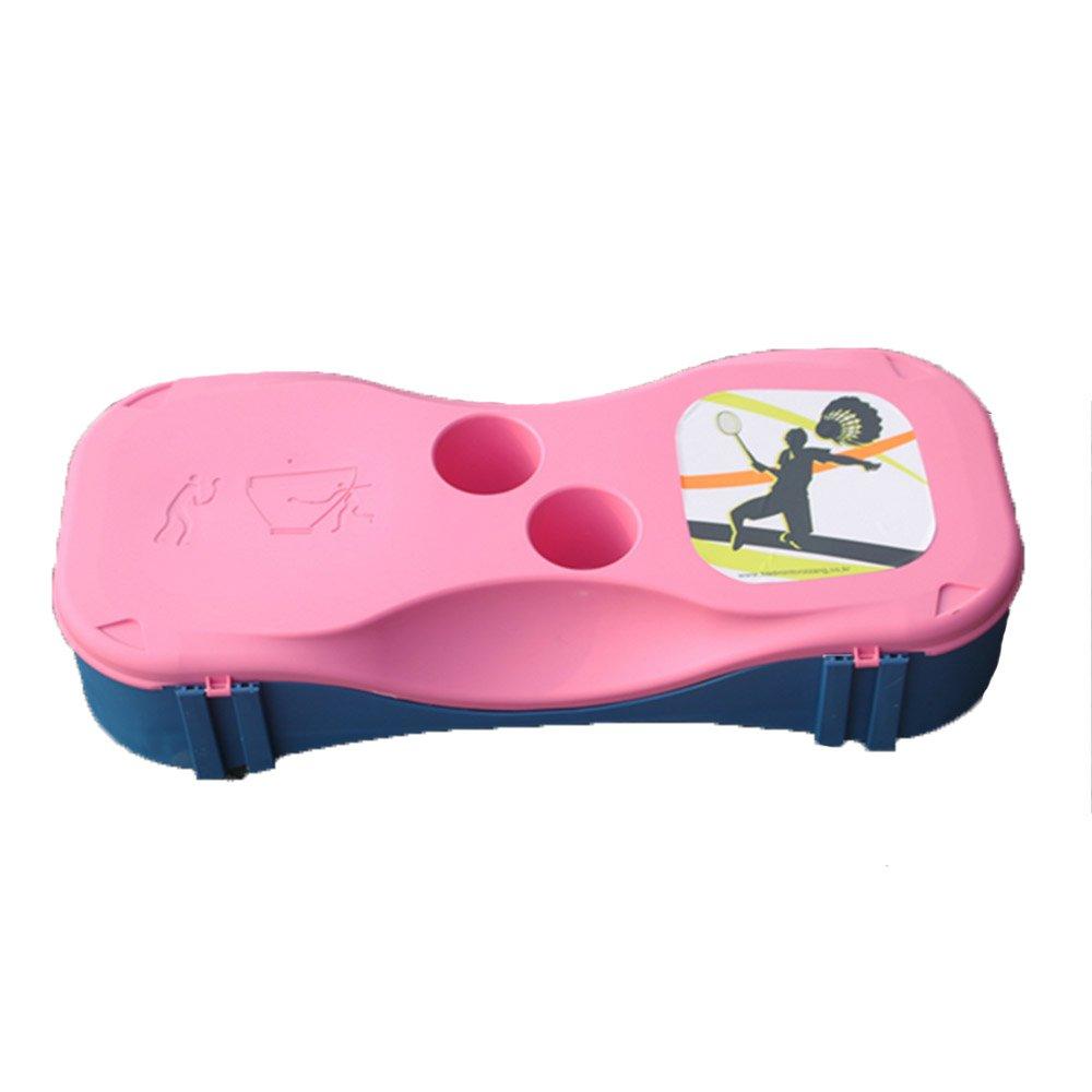 モバイルポータブルBadminton Court 2 Racketsスポーツアウトドア B019U09MZO  ピンク