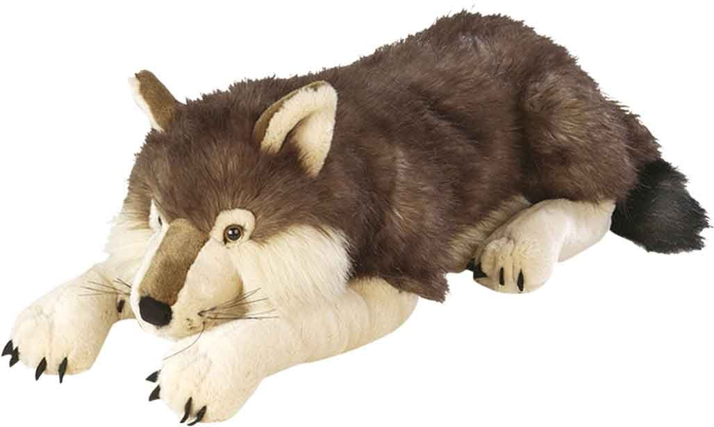 Wild Republic Jumbo Wolf Plush, Giant Stuffed Animal, Plush Toy, Gifts for Kids, 30 Inches by Wild Republic