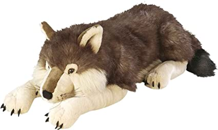 Amazoncom Wild Republic Jumbo Wolf Plush Giant Stuffed Animal
