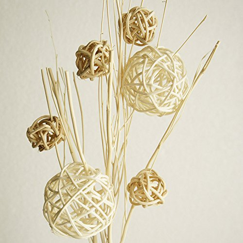 Exotic Elegance Set of Decorative Woven Rattan Ball Reed Diffuser. Exotic Aroma