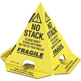 "Ship Now""NO Stack"" Print Pallet Cones"