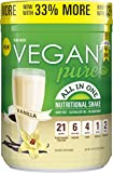 vegan shake mix - Vegan Pure All In One Nutritional Shake, Vegan Vanilla Flavor Plant-Based Protein Powdered Drink, 1.34 Pounds (12 Servings), Dairy Free, Soy Free & Made with Gluten-Free Ingredients