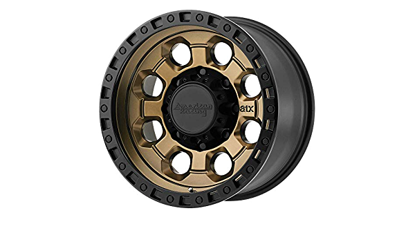 American Racing AR202 17x9 6x139.7-12et Matte Bronze Black Lip Wheel
