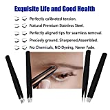 RoosterCo Eyebrow Tweezer Set with Travel