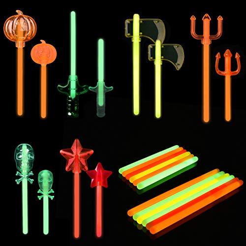 Glow Stick Halloween Decorations - 12PCs Glow Sticks for Halloween Party