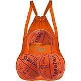 Mesh Bag Ball Beach Toy (Orange - XXL) - Large Backpack for Basketball Pool Swim