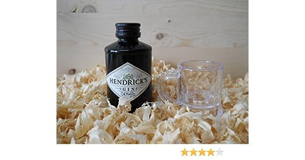 Botellines miniaturas Ginebra Gin Hendrick´s con vasito chupito ...