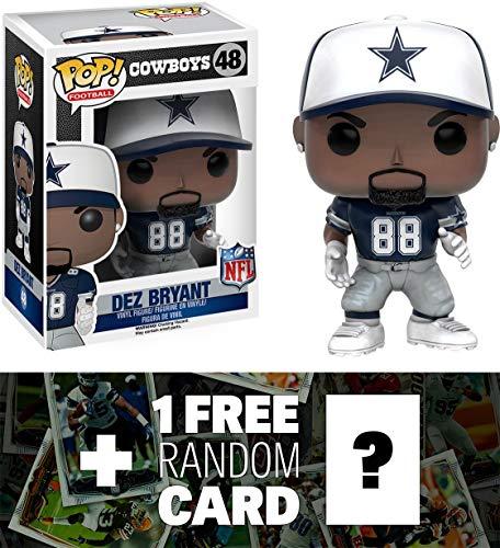 Dez Bryant - Cowboys: Funko POP! x NFL Vinyl Figure + 1 FREE Official NFL Trading Card Bundle ()