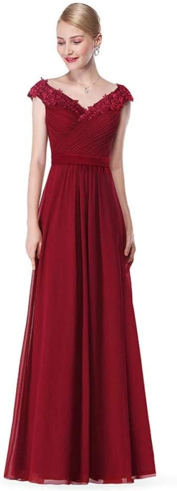 Kleider Elegant A Line V Ausschnitt Appliques Formale Abendkleid Lange Rote Formale Hochzeit Party Kleider Plus Size Burgund 20 Amazon De Bekleidung